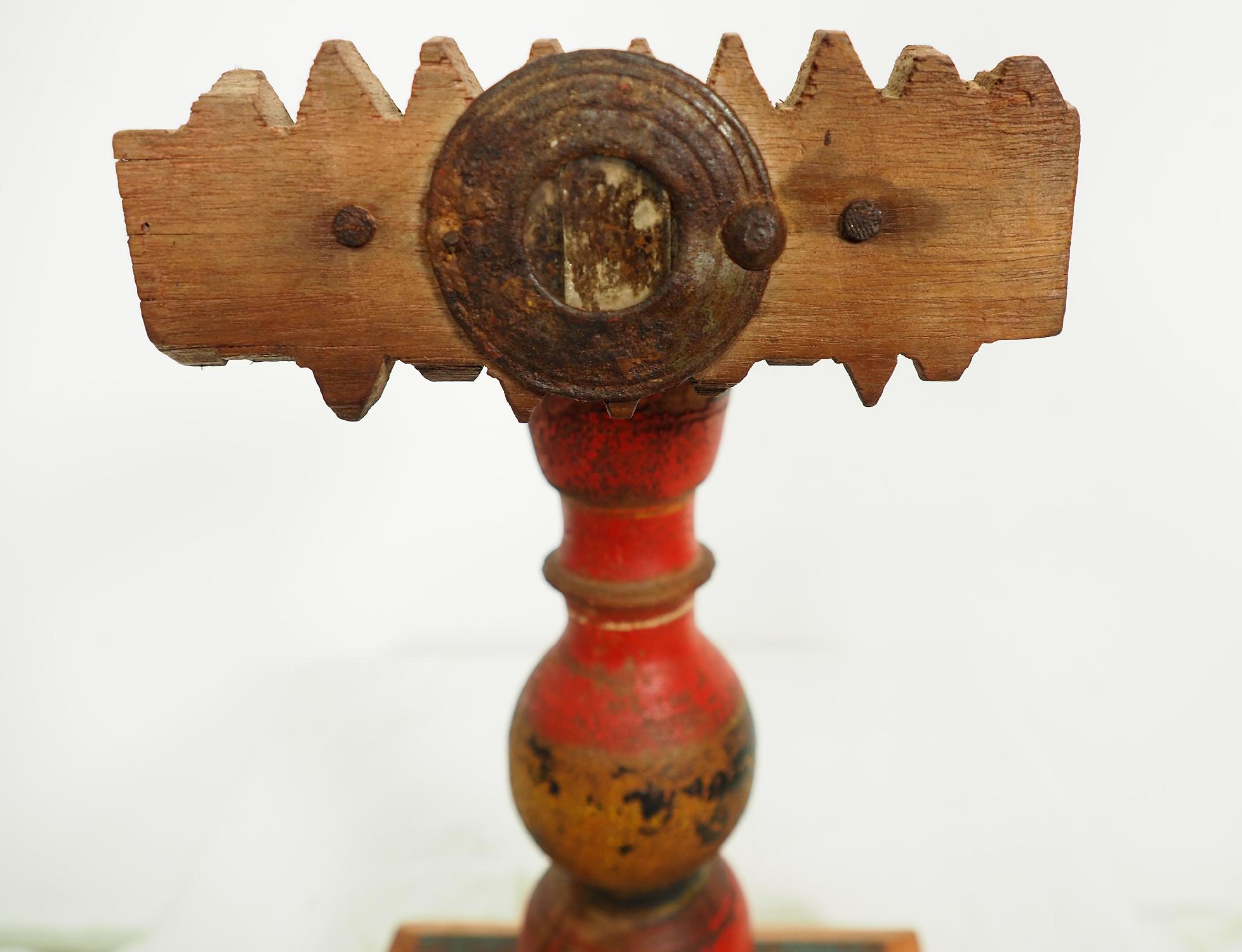 Antique Lacquerware Massiv Holz lampenständer  Nr: J
