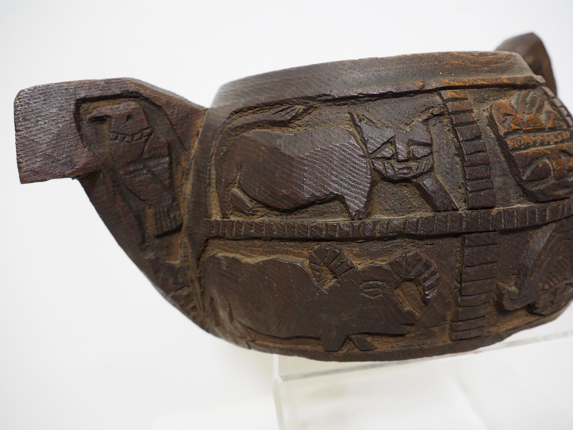 Antique wooden bowl  Nuristan Afghanistan No:19/3