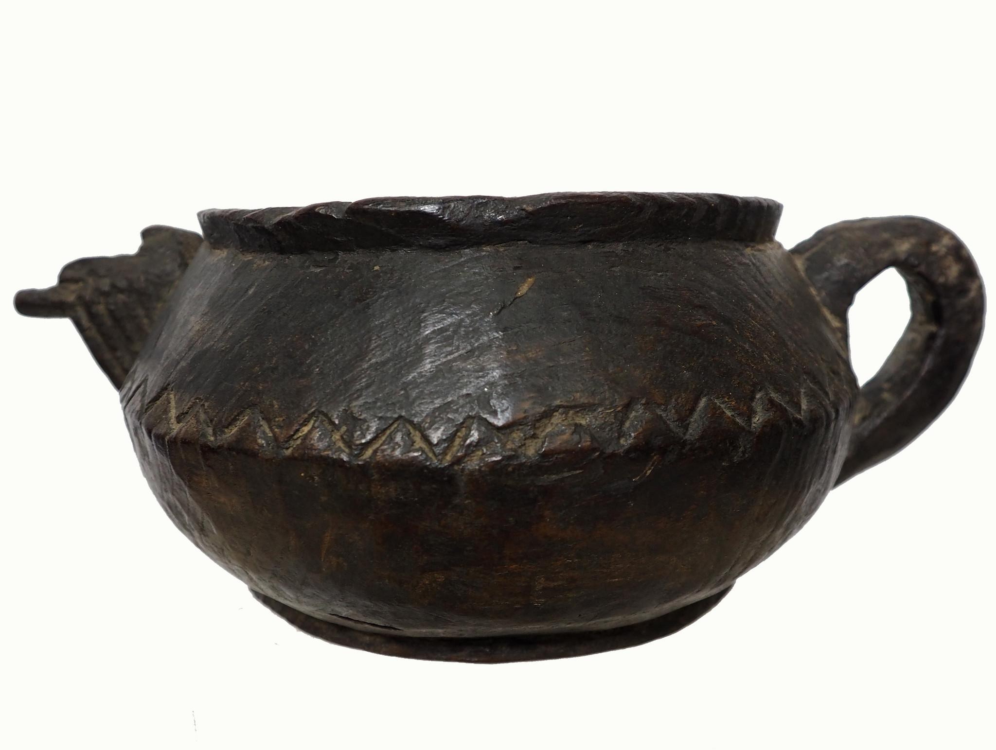 Antique wooden bowl  Nuristan Afghanistan No:19/1