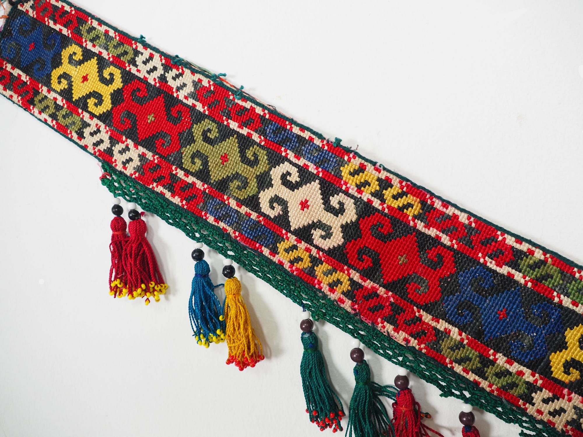 antik orient Usbek Nomaden Suzani Jurten Zierband saye-gosha aus Afghanistan Nr:19/D