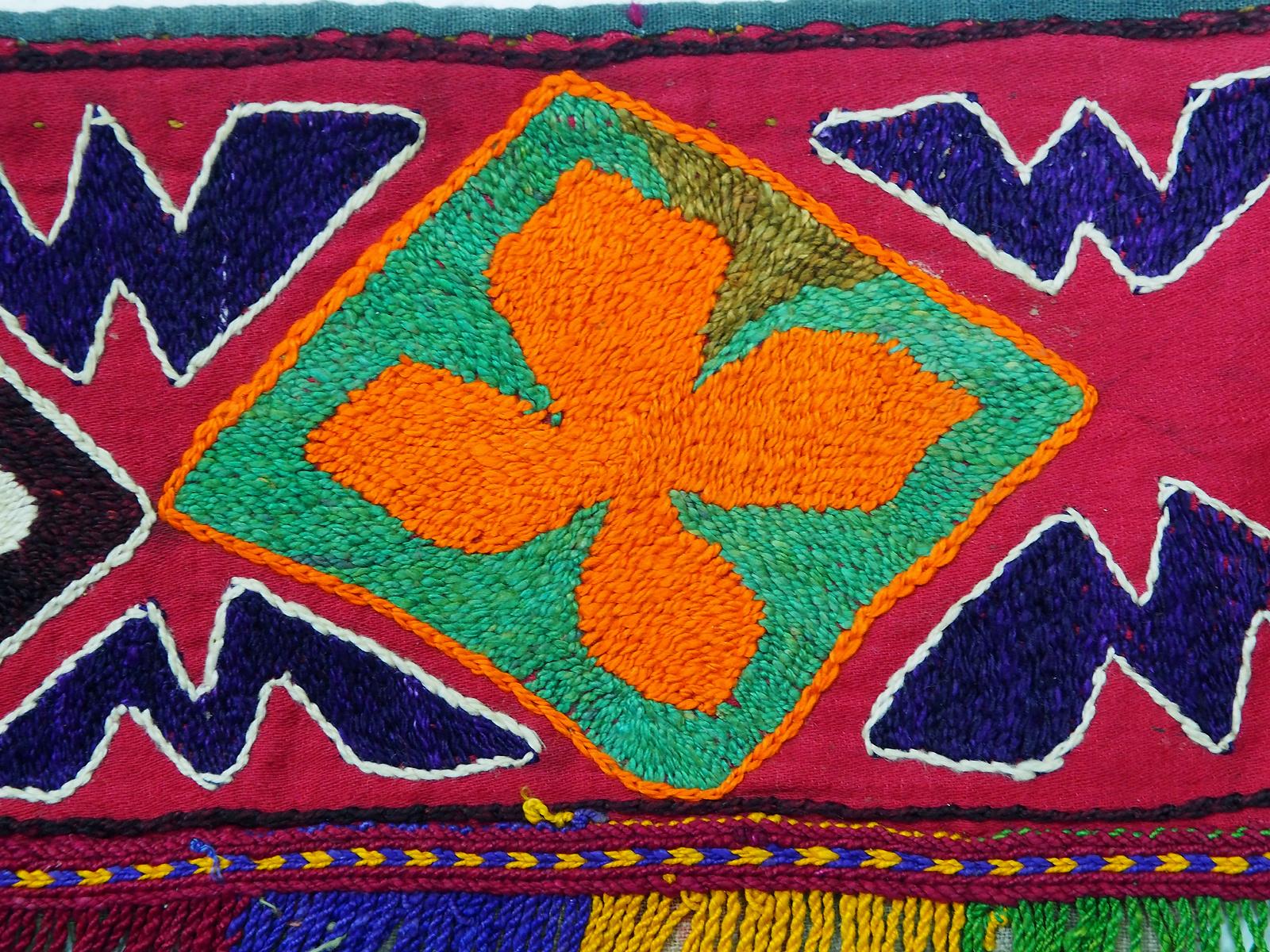 antik orient Usbek Nomaden Suzani Jurten Zierband saye-gosha aus Afghanistan Nr:19/F2