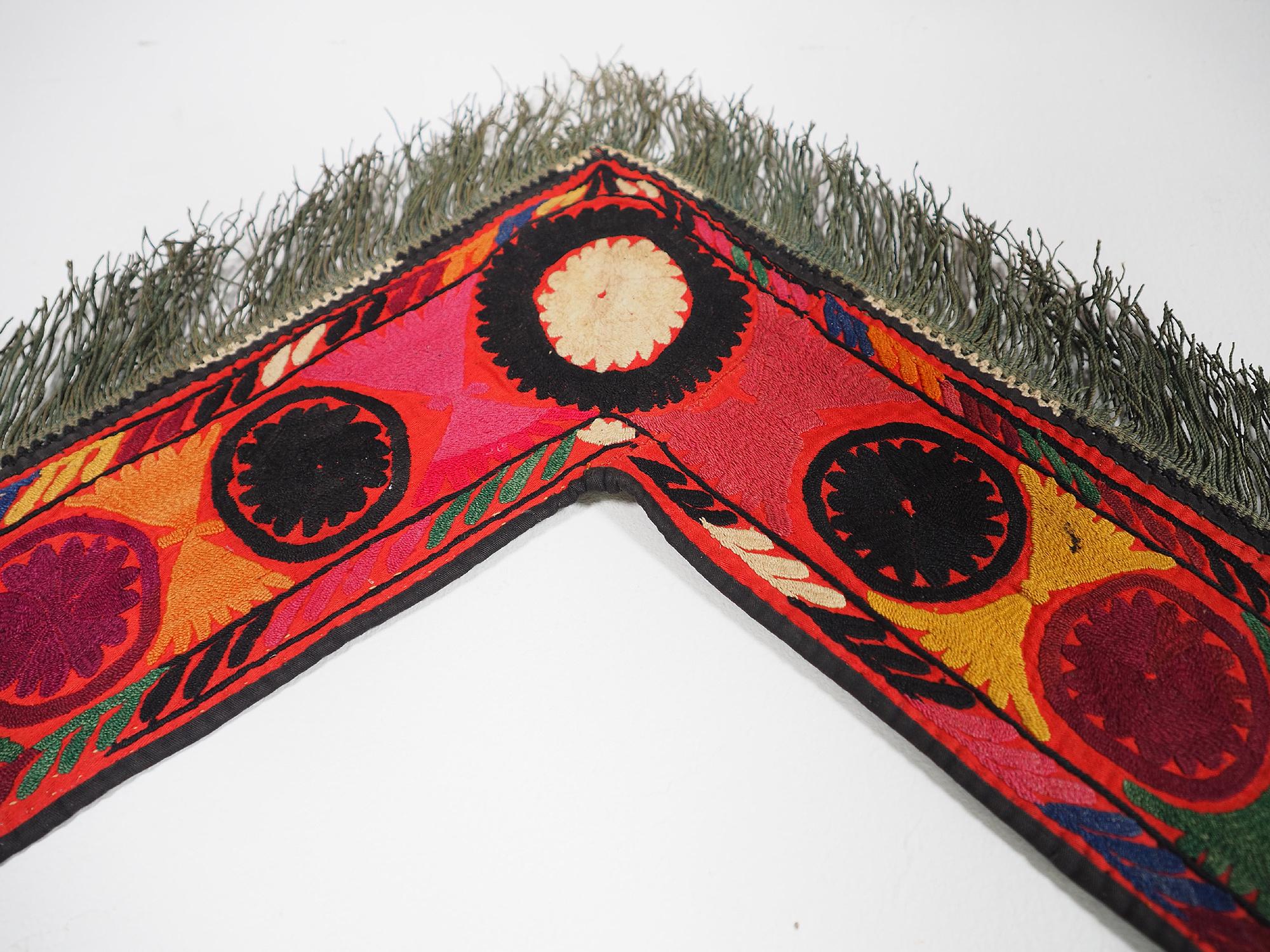 antik orient Usbek Nomaden Suzani Jurten Zierband saye-gosha aus Afghanistan Nr:19/G