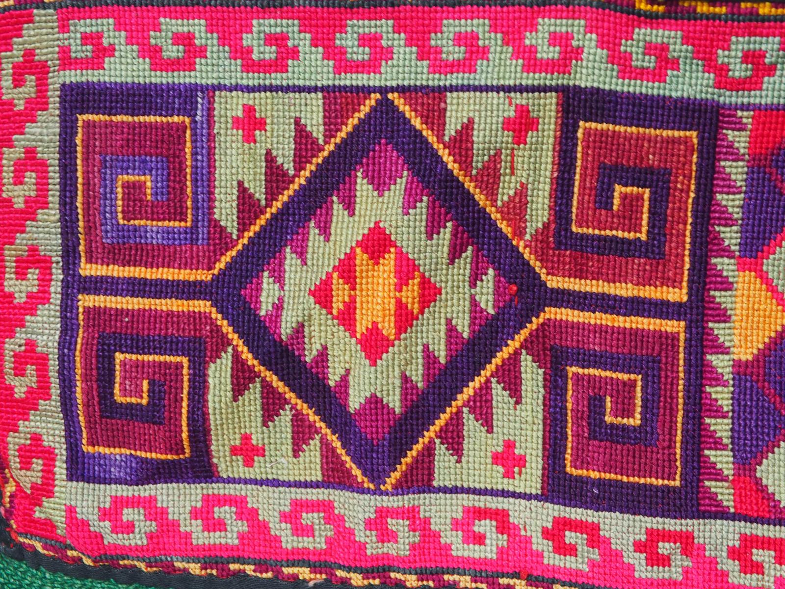 antik orient Usbek Nomaden Suzani Jurten Zierband saye-gosha aus Afghanistan Nr:19/H