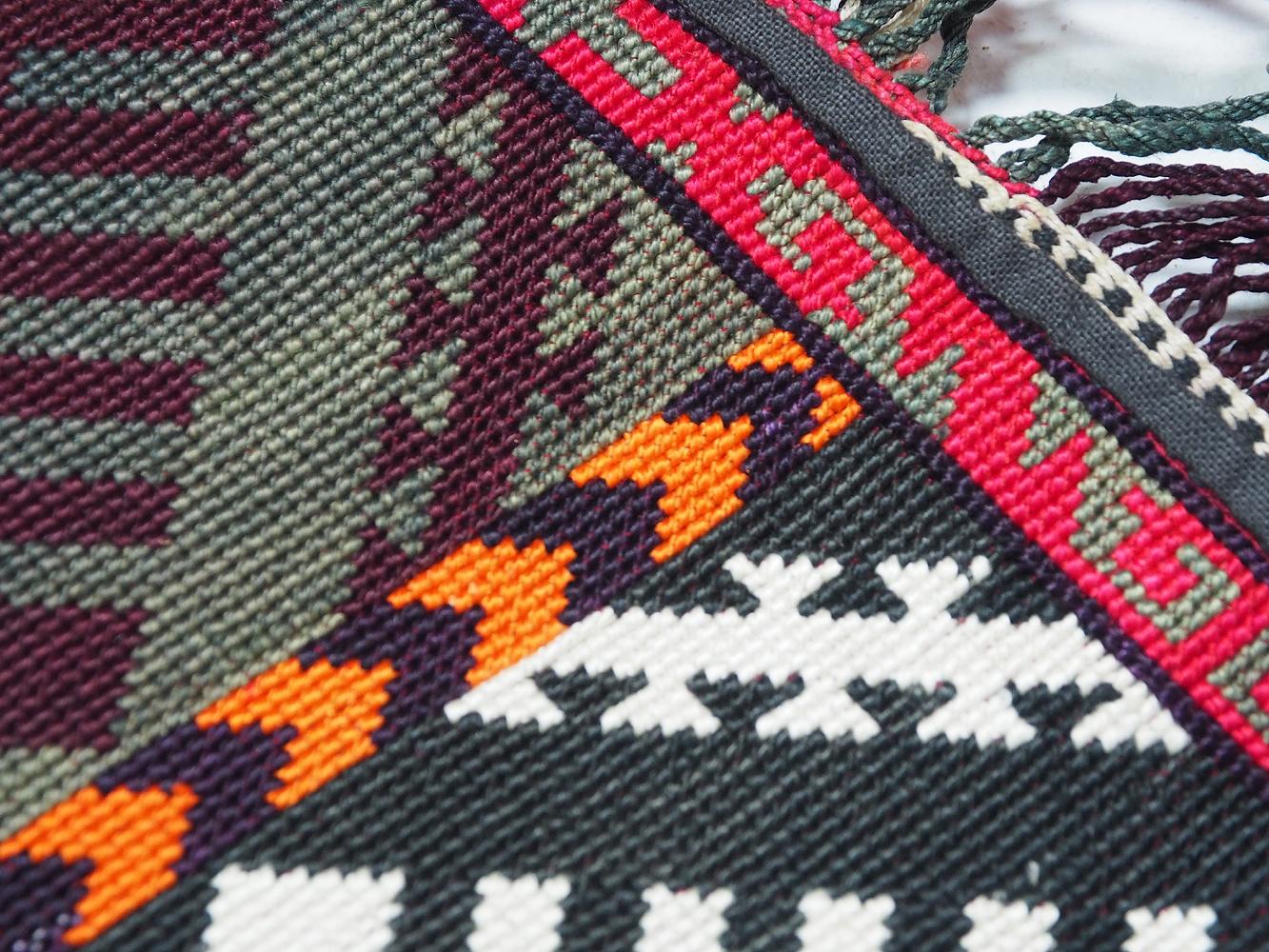 antik orient Usbek Nomaden Suzani Jurten Zierband saye-gosha aus Afghanistan Nr:19/i