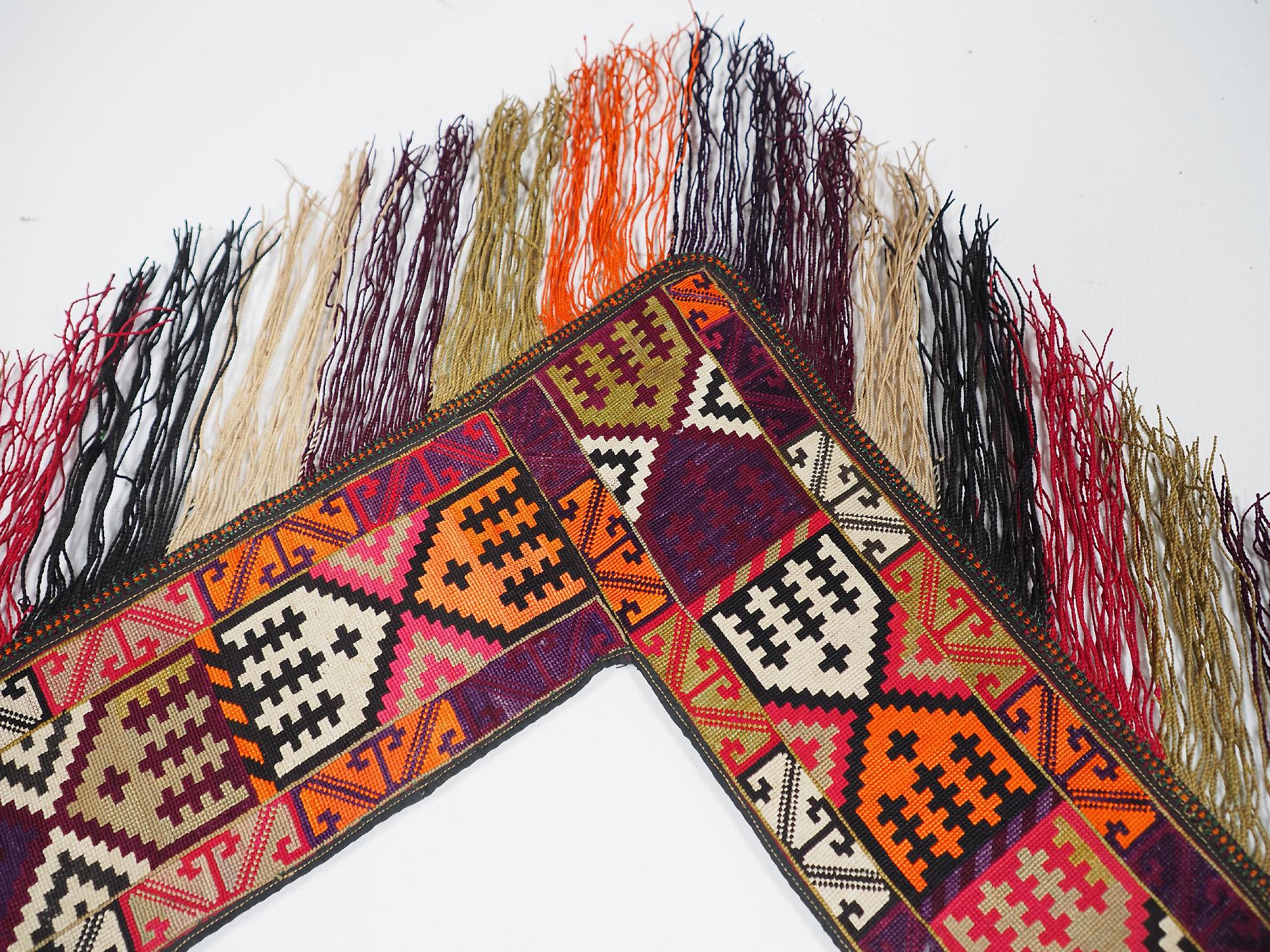 antik orient Usbek Nomaden Suzani Jurten Zierband saye-gosha aus Afghanistan Nr:19/L