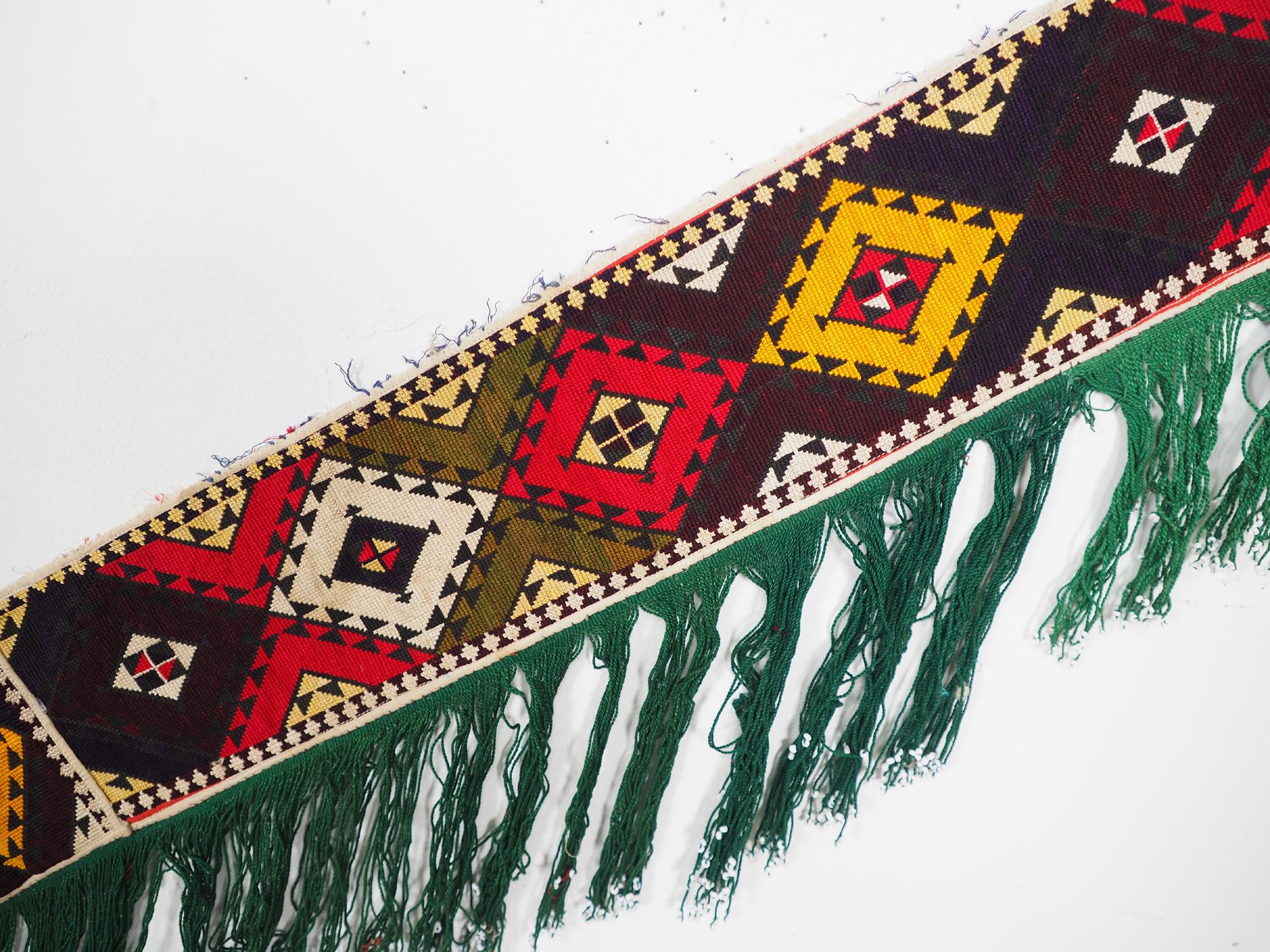 antik orient Usbek Nomaden Suzani Jurten Zierband saye-gosha aus Afghanistan Nr:19/M