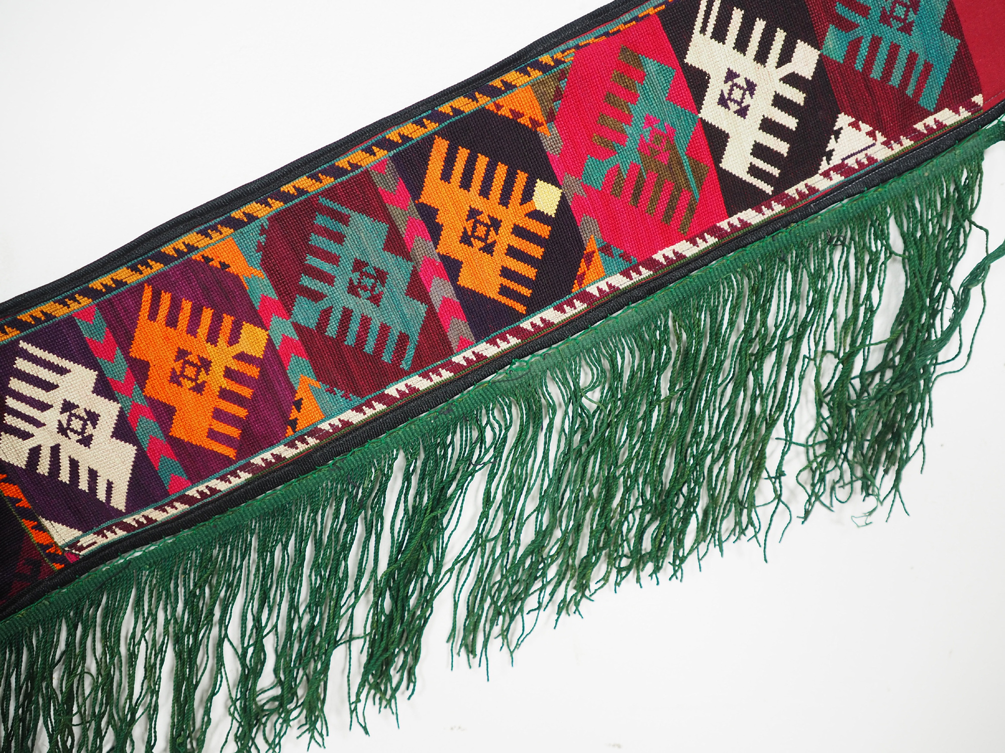 antik orient Usbek Nomaden Suzani Jurten Zierband saye-gosha aus Afghanistan Nr:19/N
