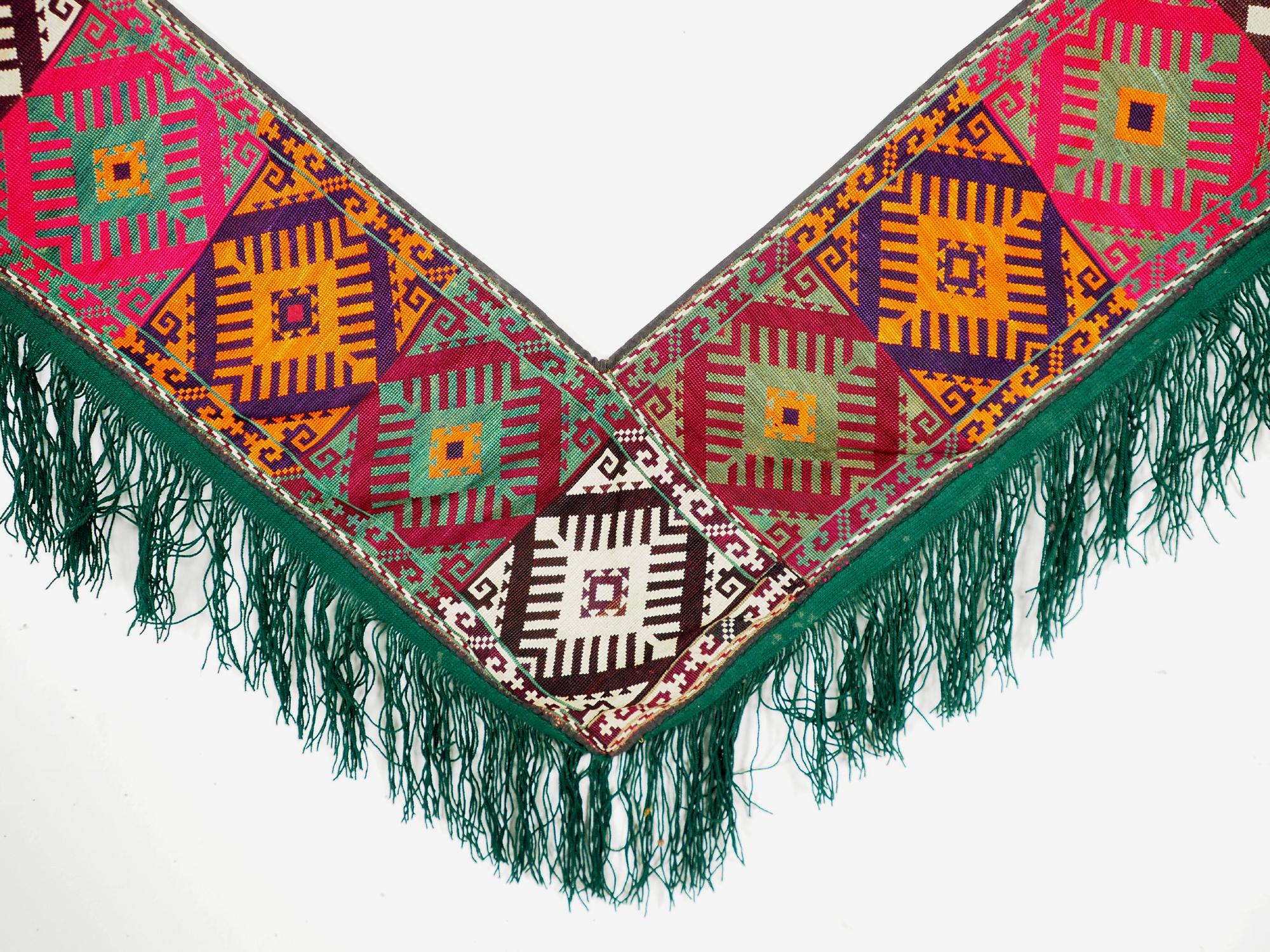 antik orient Usbek Nomaden Suzani Jurten Zierband saye-gosha aus Afghanistan Nr:19/R