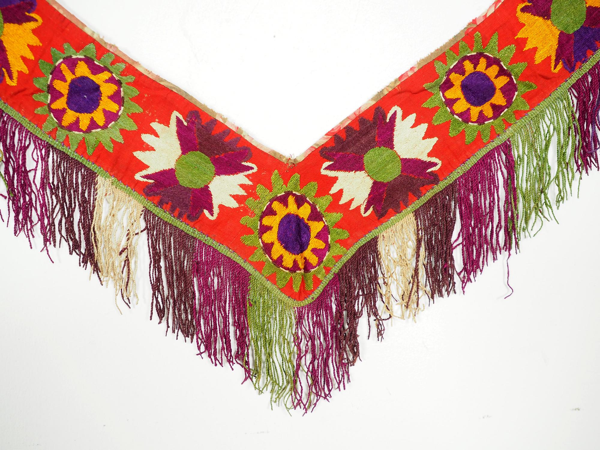 antik orient Usbek Nomaden Suzani Jurten Zierband saye-gosha aus Afghanistan Nr:19/T