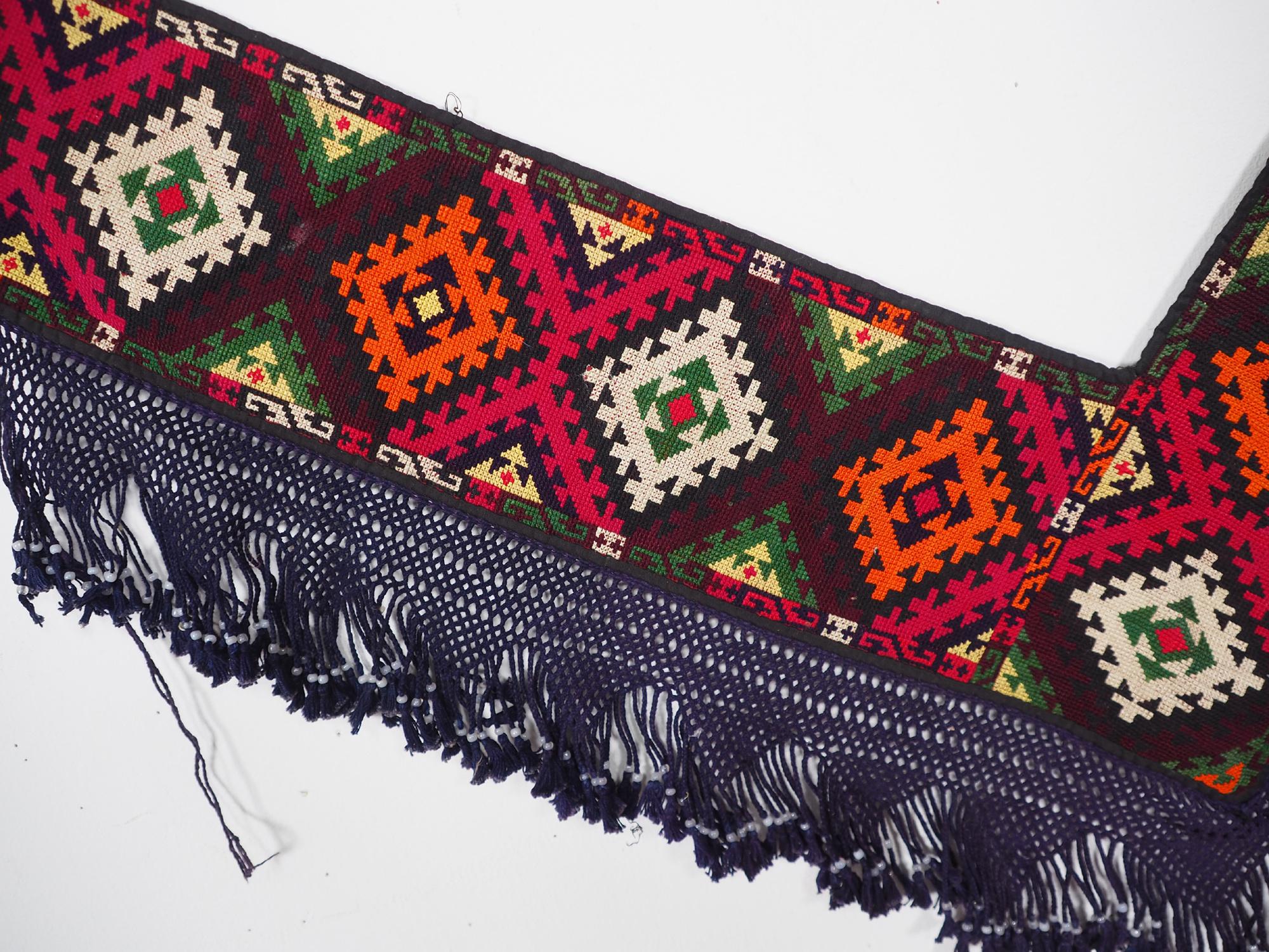 antik orient Usbek Nomaden Suzani Jurten Zierband saye-gosha aus Afghanistan Nr:19/V
