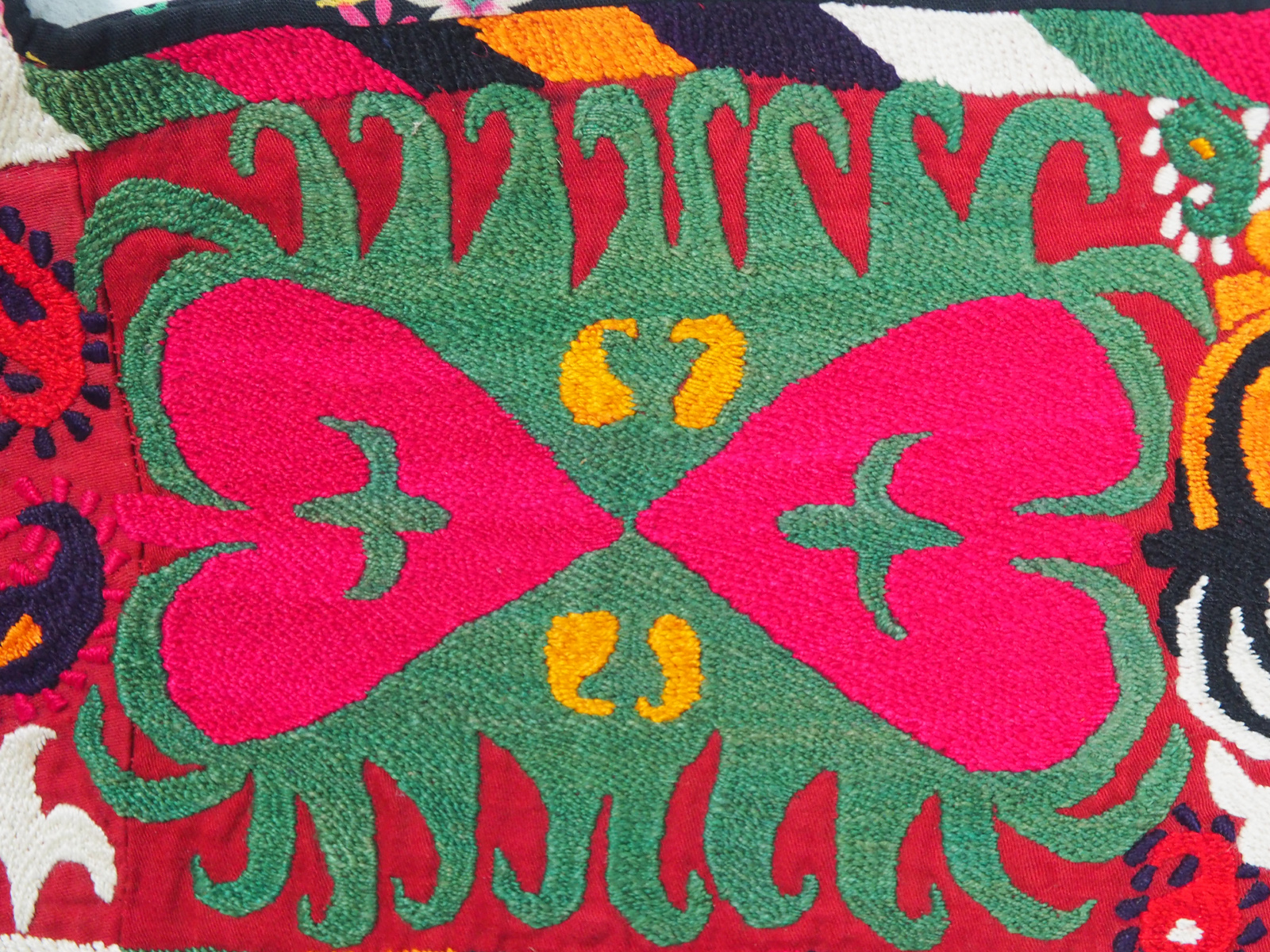 antik orient Usbek Nomaden Suzani Jurten Zierband saye-gosha aus Afghanistan Nr:19/X