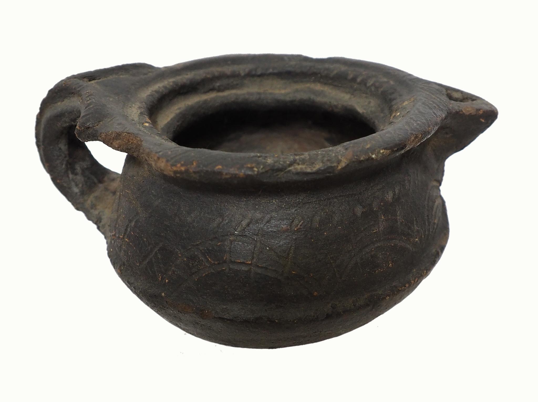 Antique Clay milk jug from Swat valley Pakistan  No:19/7