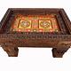87x63 cm Massivholz handgeschnitzte Couchtisch kolonialstil Wohnzimmertisch Tisch Teetisch aus Afghanistan Nuristan 19/NUR/A