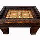 87x63 cm Massivholz handgeschnitzte Couchtisch kolonialstil Wohnzimmertisch Tisch Teetisch aus Afghanistan Nuristan 19/NUR/B