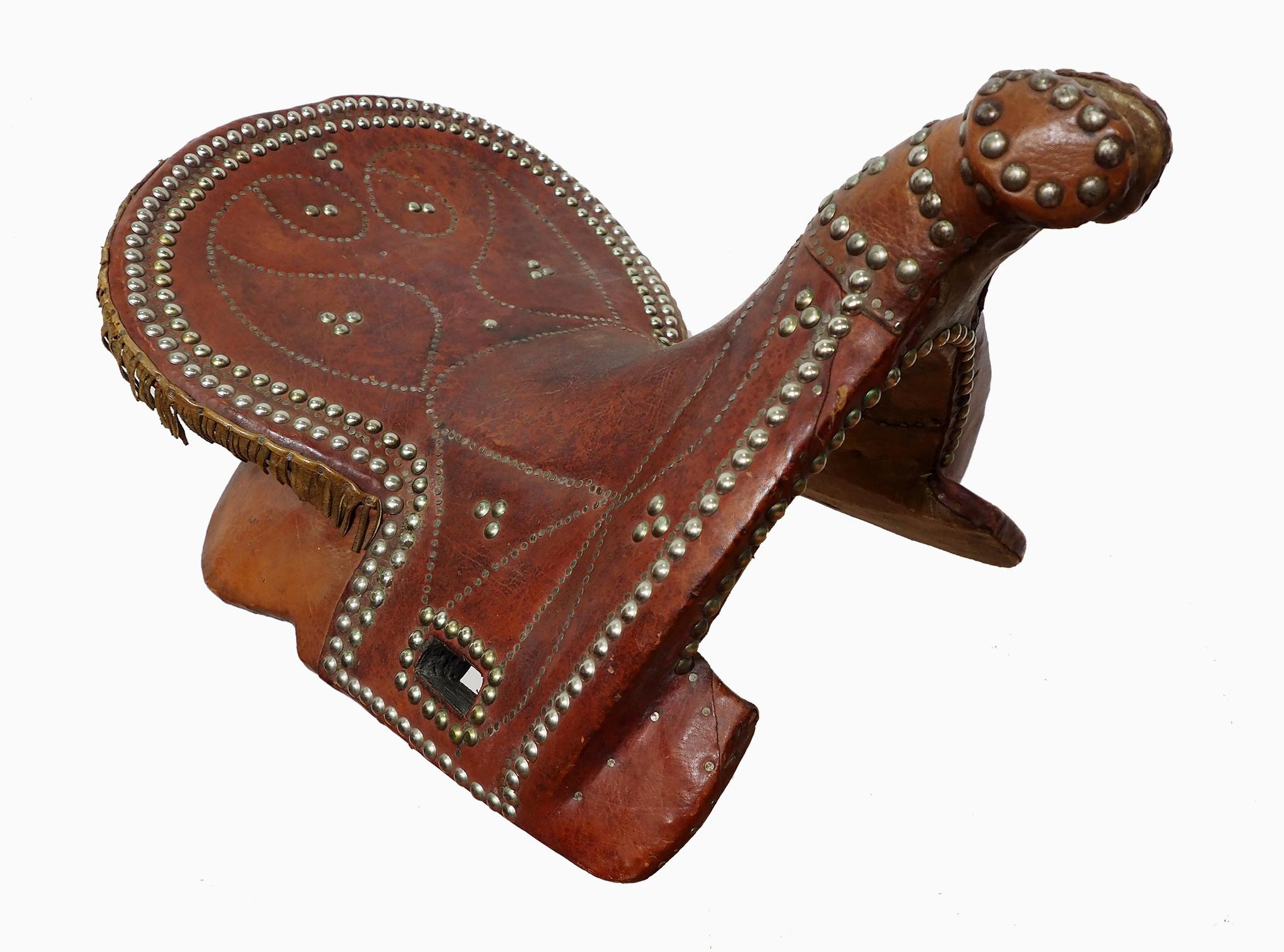 antik Orient Turkmen Uzbek Pferdesattel buzkashi Reiterspiel Sattel aus Nord Afghanistan Nr. ULM