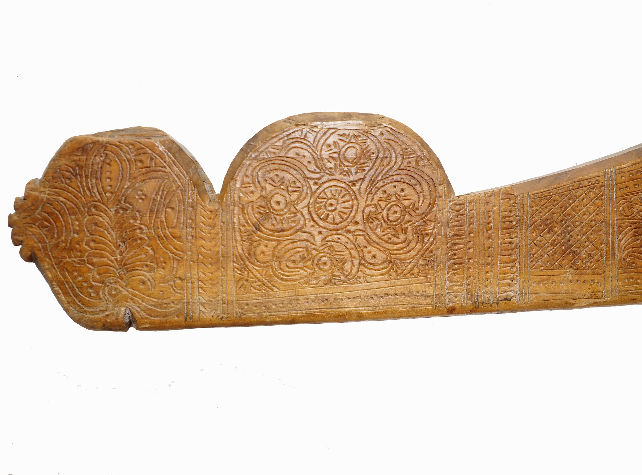 Antique wooden Yoke Joch Nuristan Afghanistan  Swat-Valley pakistan No:ULM/A