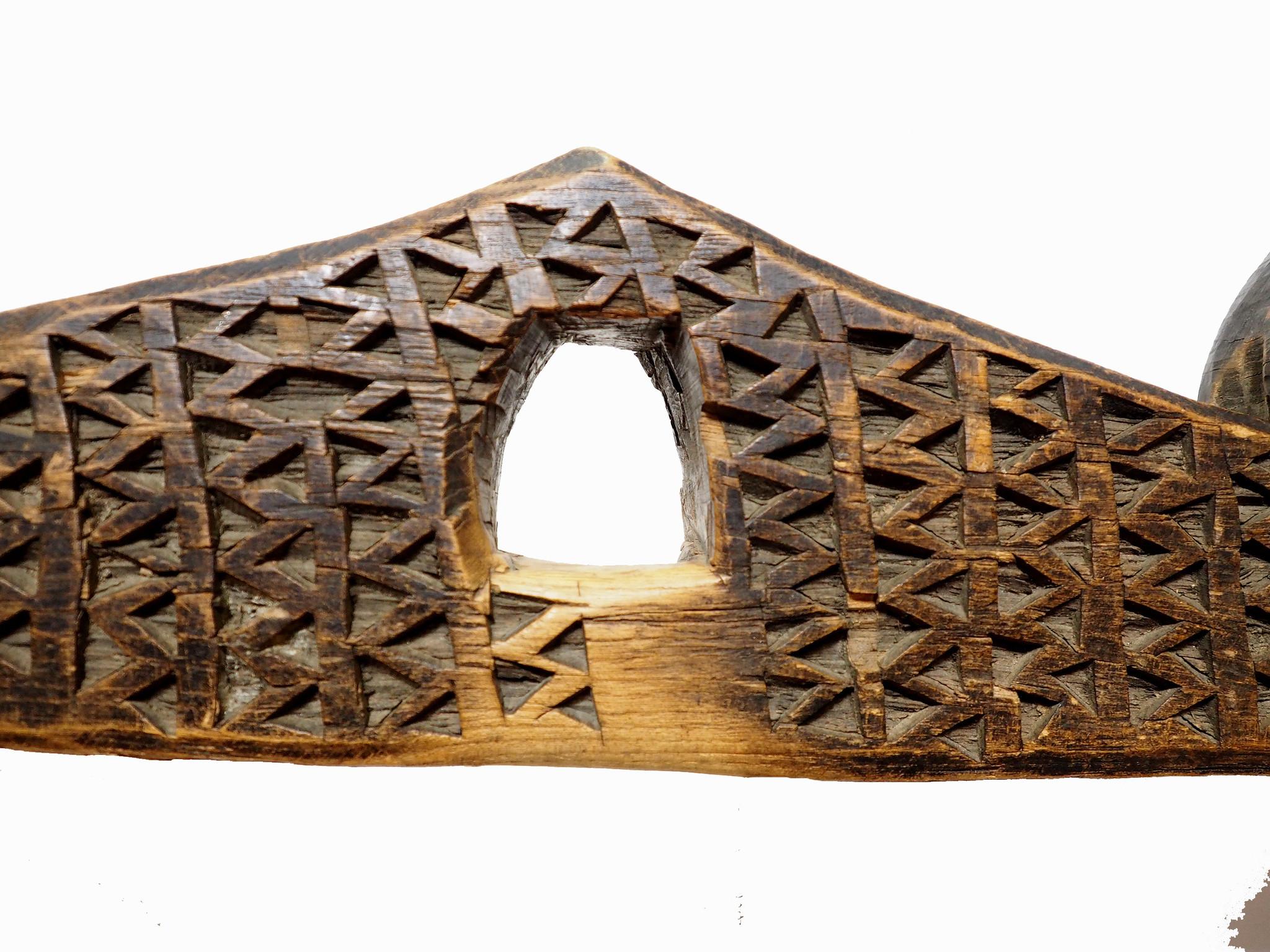 Antique wooden Yoke Joch Nuristan Afghanistan  Swat-Valley pakistan No:ULM/C
