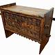 antique 19th century orient vintage cedar wood treasure Dowry Chest from Nuristan Afghanistan No:ULM1