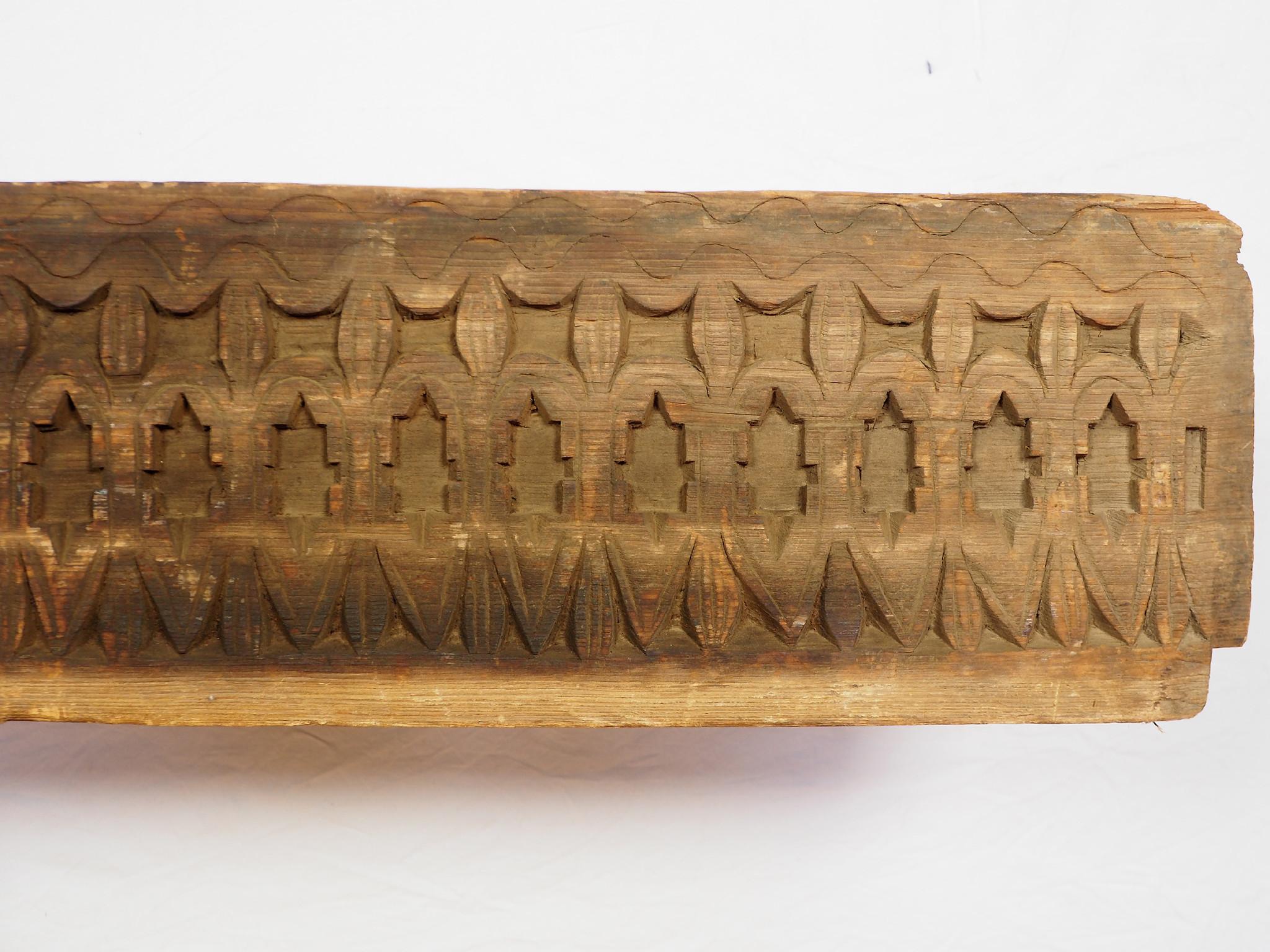 155 cm x 22 cm antik orient handgeschnitzte Massiv Holz Afghanistan Nuristan Panel Pakistan Swat-Valley 18/19 Jh. Nr:20/J