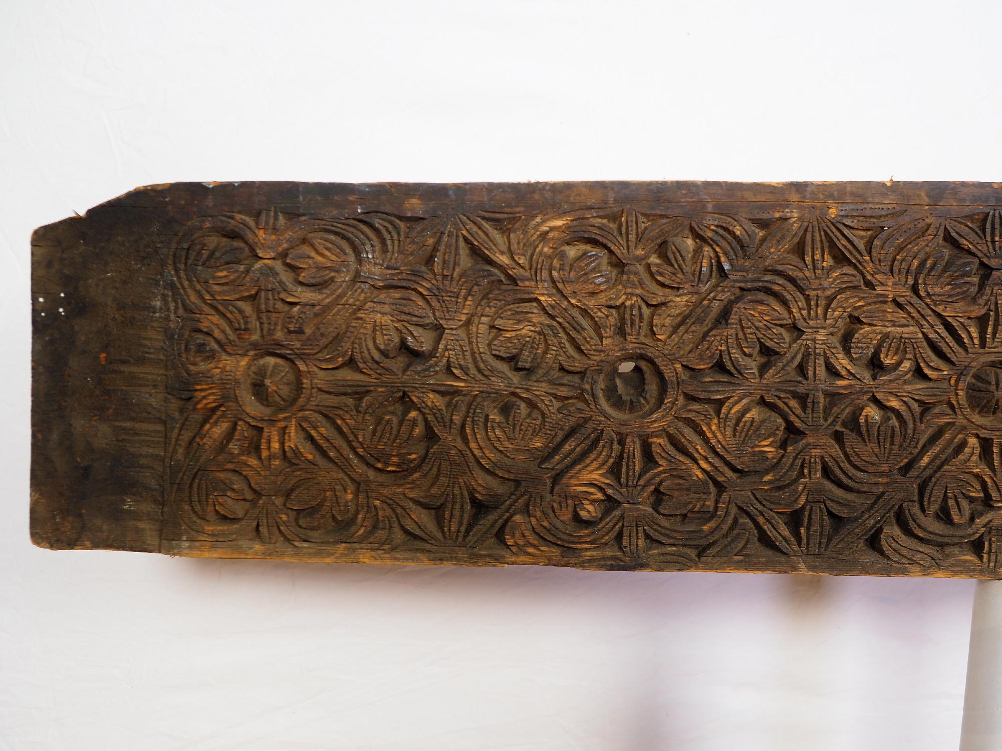 133 cm x 26 cm antik orient handgeschnitzte Massiv Holz Afghanistan Nuristan Panel Pakistan Swat-Valley 18/19 Jh. Nr:20/F