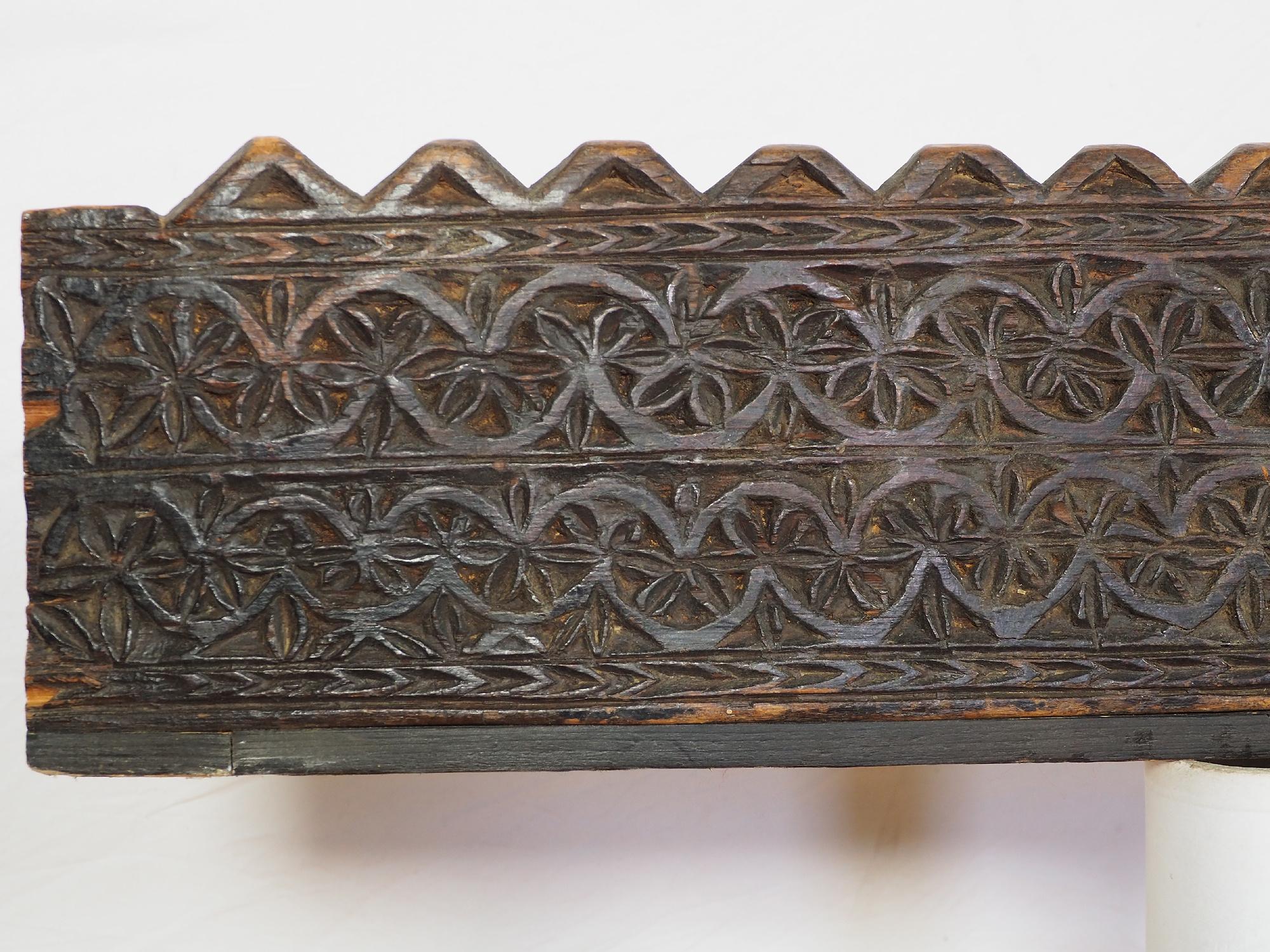 70 cm x 18 cm antik orient handgeschnitzte Massiv Holz Afghanistan Nuristan Panel Pakistan Swat-Valley 18/19 Jh. Nr:20/B