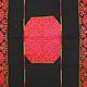 226x114 cm sehr seltener antike 19. Jahrhundert dekorative Seide bestickt Pulkari Schal Swat-Tal Pakistan 20/A