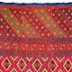 250 cmx 115 cm sehr seltener antike 19. Jahrhundert seiden Pulkari Schal Swat-Tal Pakistan im besten Zustand 20/B