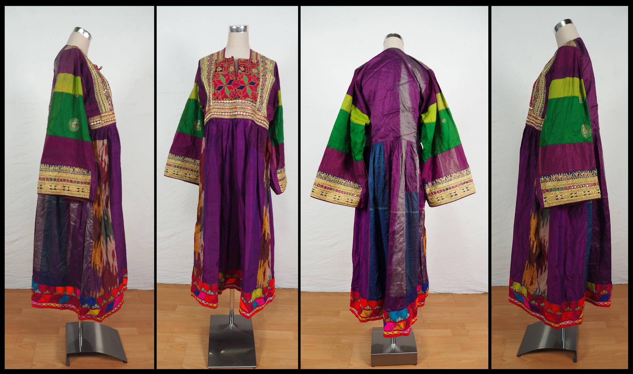 antik Orient Nomaden kuchi frauen Hochzeit Tracht afghan seiden kleid afghanistan hand bestickte kostüm Nr-20/A