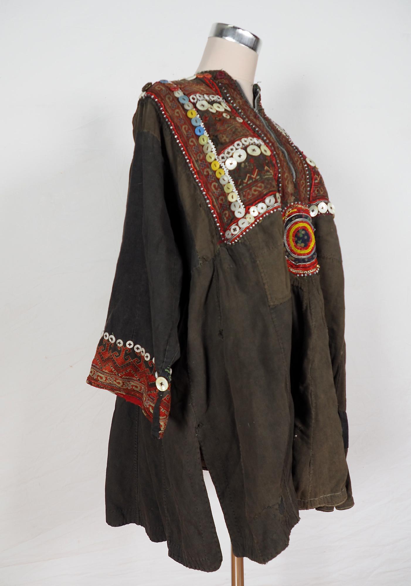 antik und sehr seltener Kinder Mädchen Kleid aus Afghanistan Nuristan kohistan Jumlo Nr-KL20/C