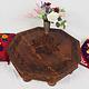 80x80 cm Massivholz handgeschnitzte Teetisch kolonialstil Wohnzimmertisch Tisch tisch aus Afghanistan Nuristan 8Eck