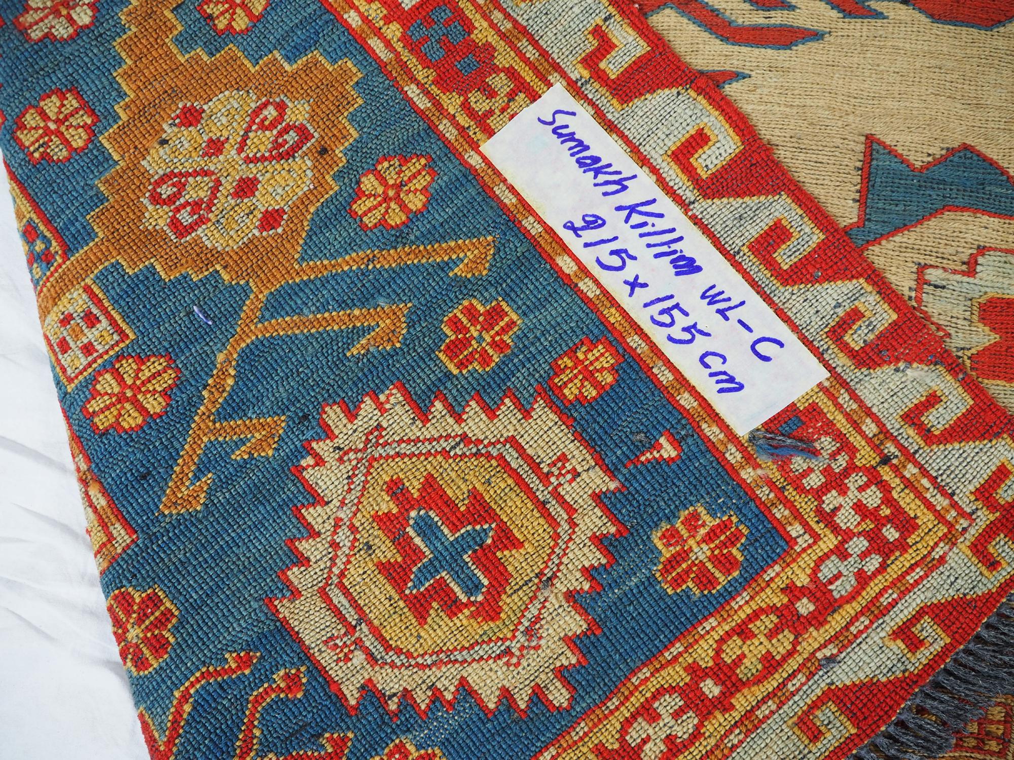 215x155 cm Caucasian Soumak Kilim Rug WL/C