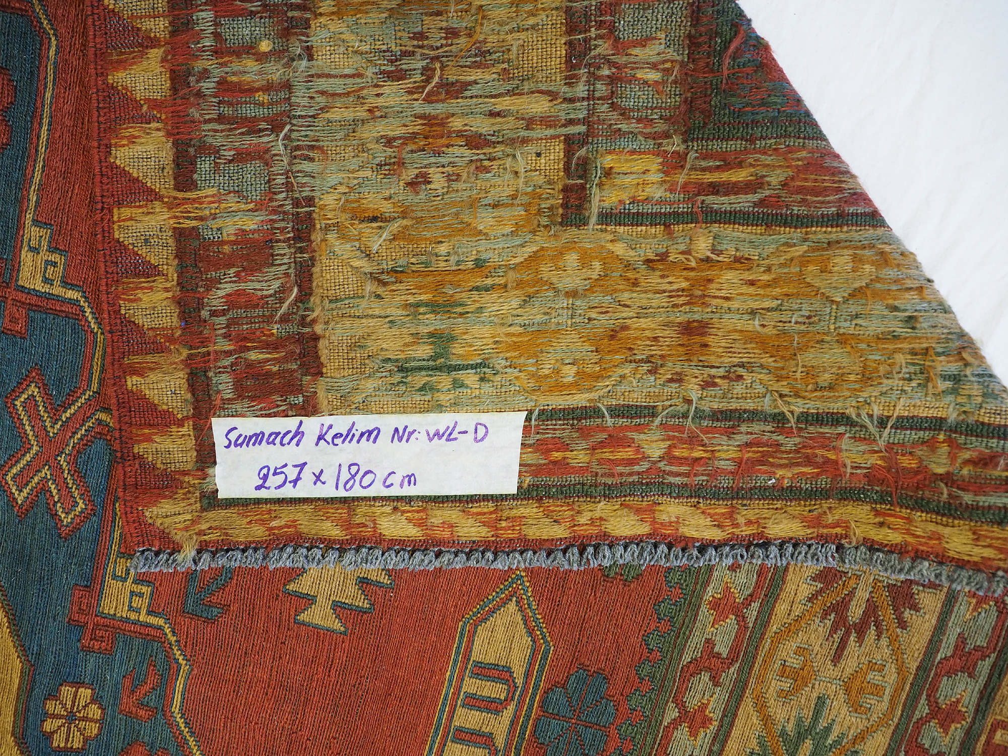 257x180 cm Caucasian Soumak Kilim Rug WL/D