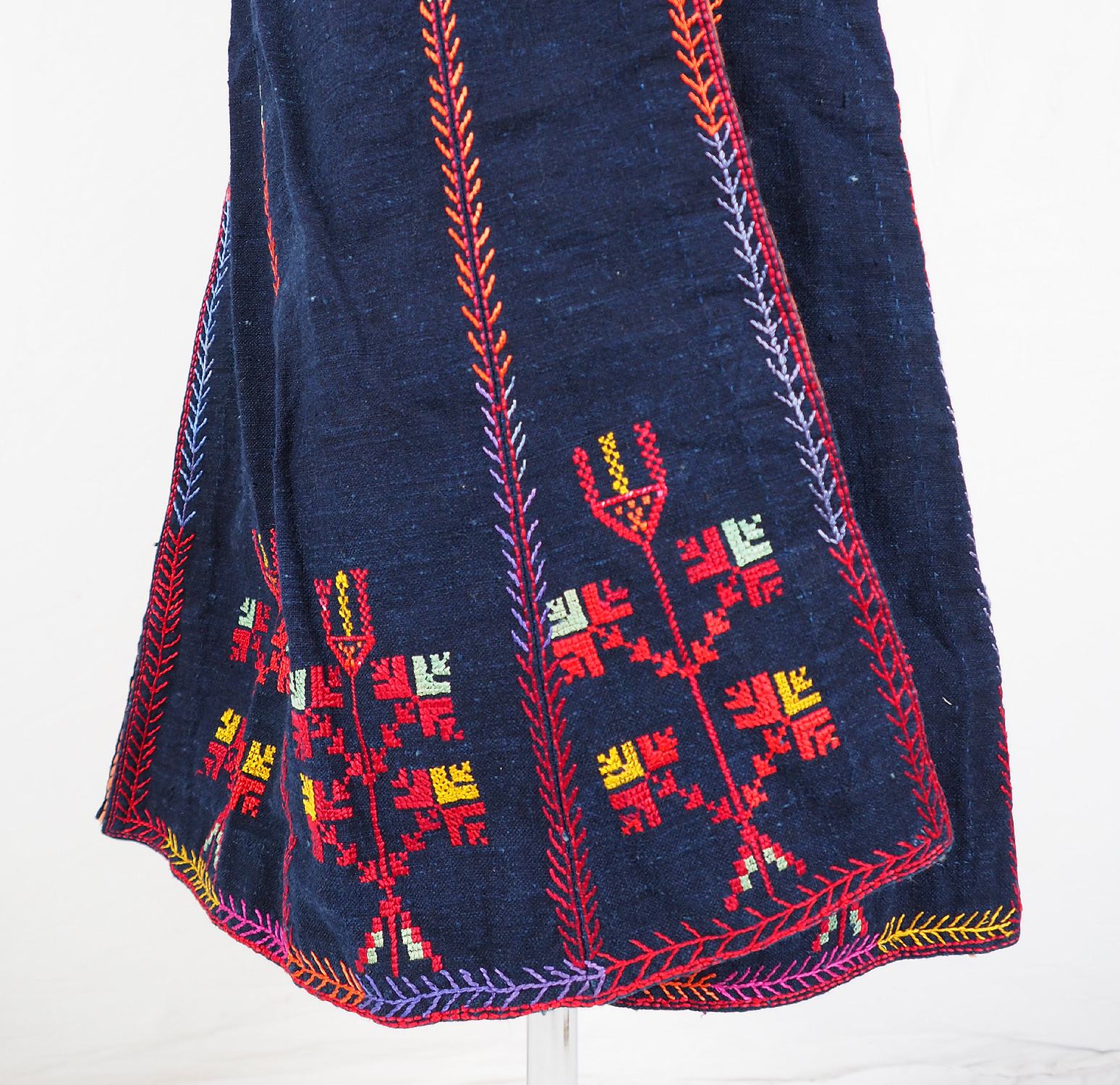 antique hand embroidered bedouin Palestinian embroidered ethnic dress No:22