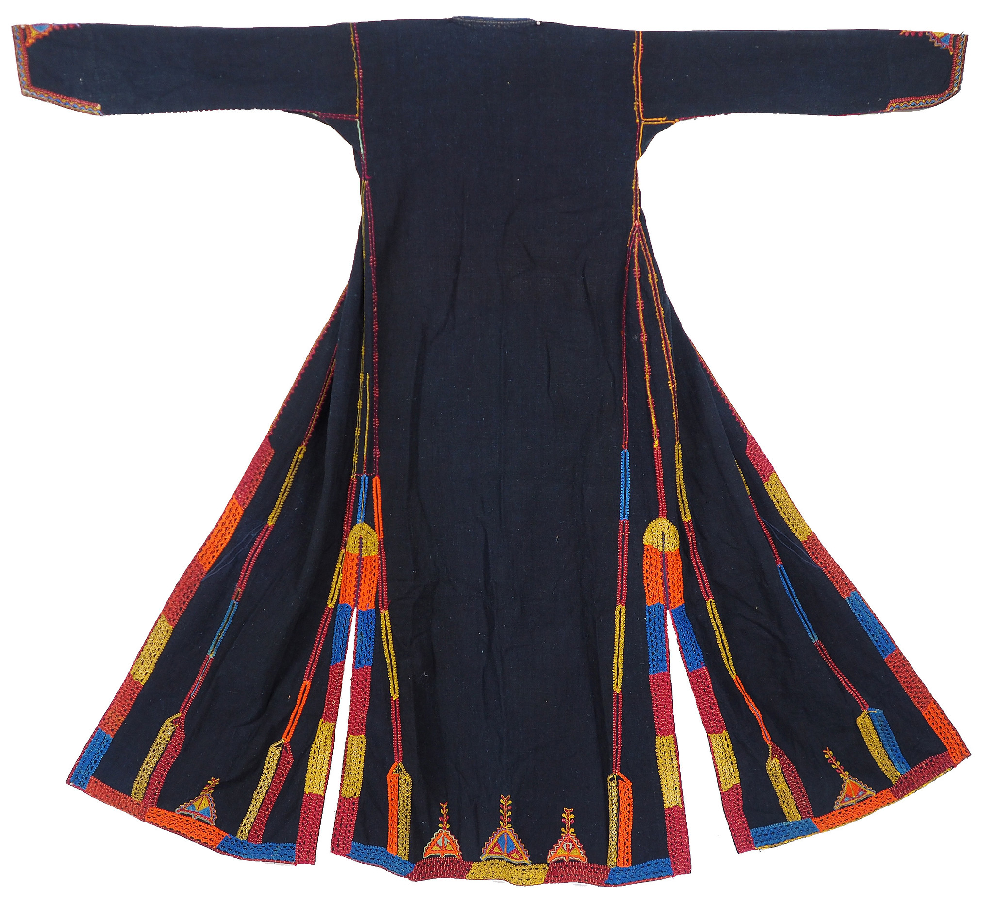 antique hand embroidered bedouin Palestinian embroidered ethnic dress No:17