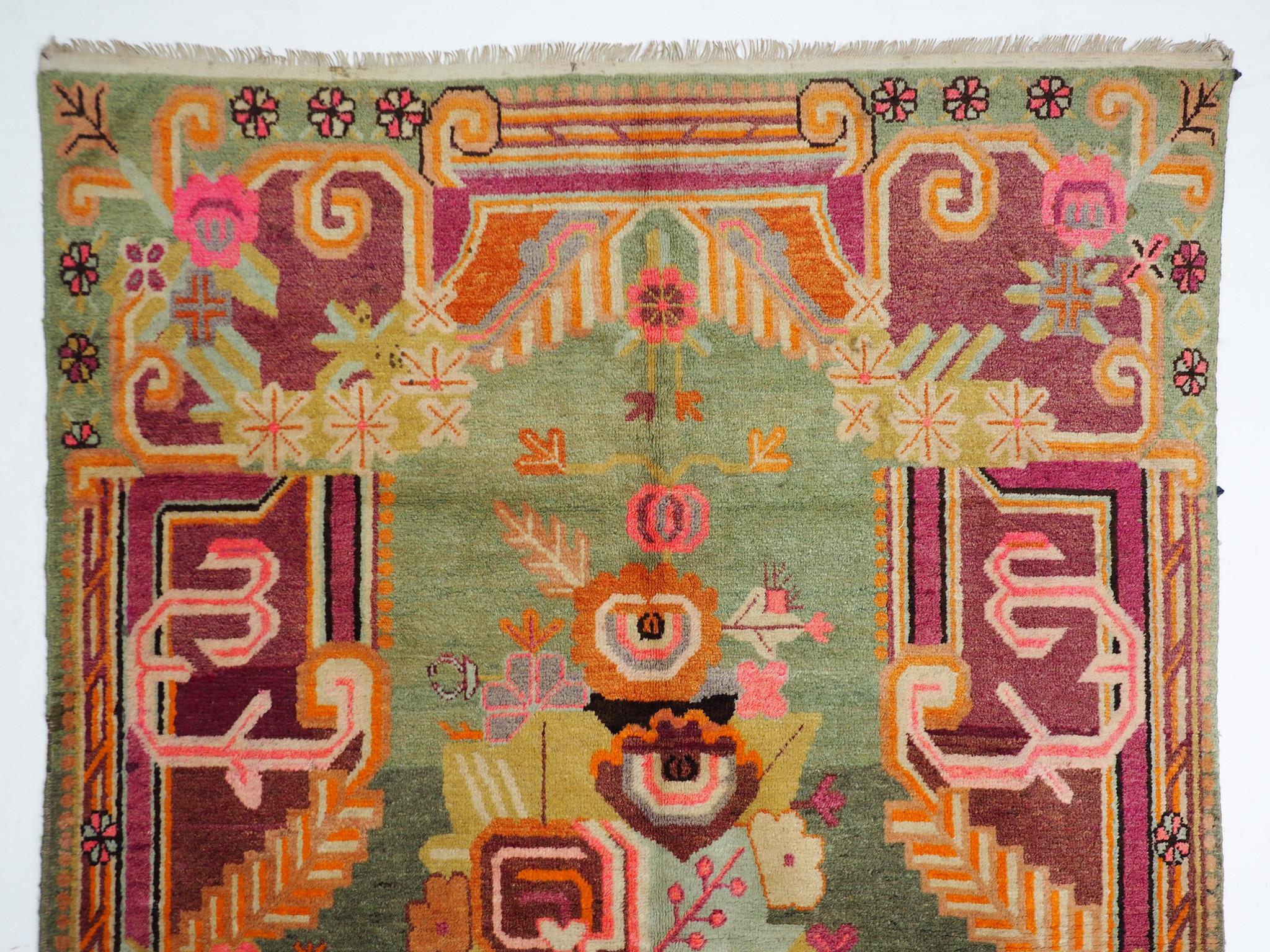 Bukhara 220x140 cm antique Khotan rug Chinese Turkestan No:A