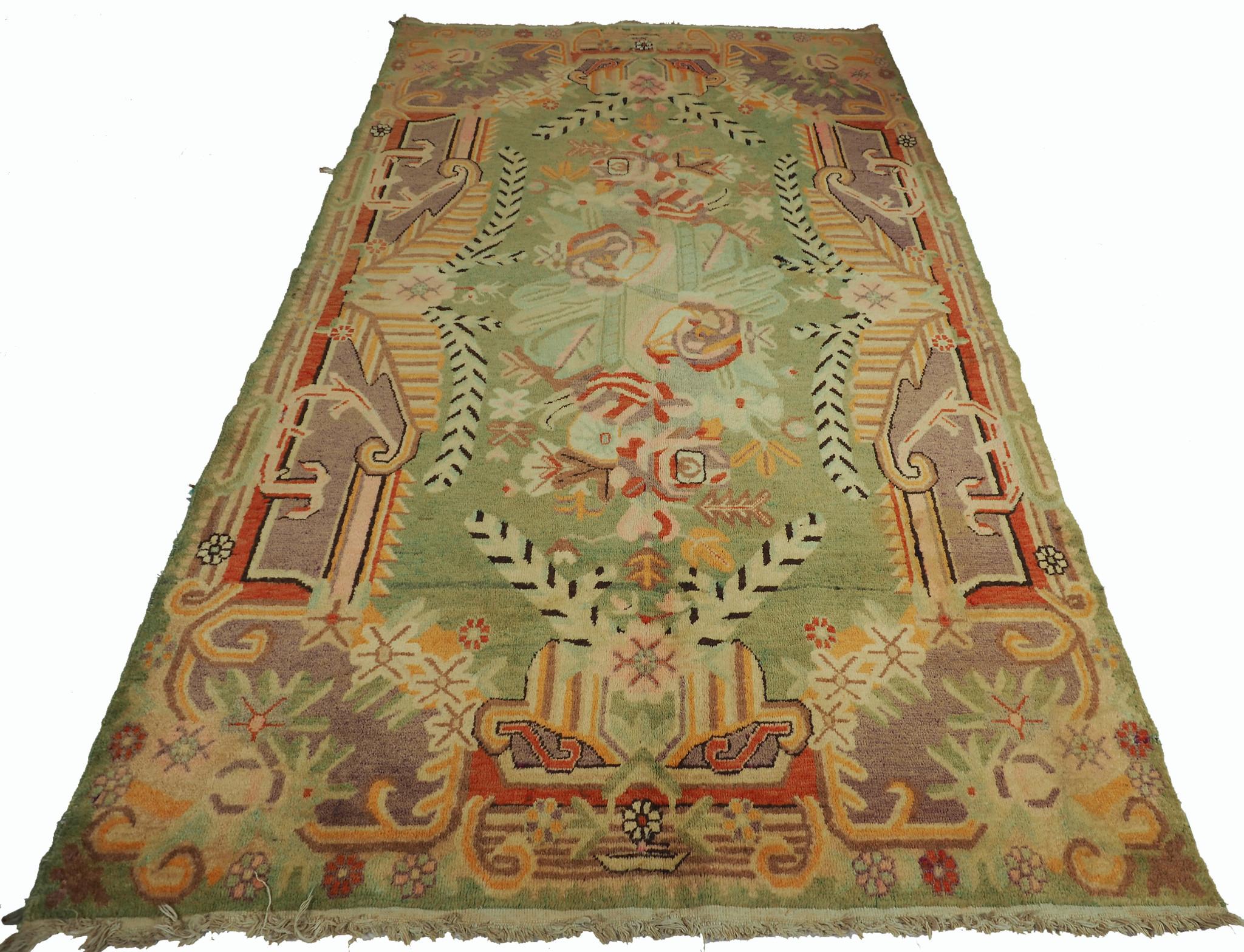 250x143 cm antique Khotan rug Chinese Turkestan No:20/B