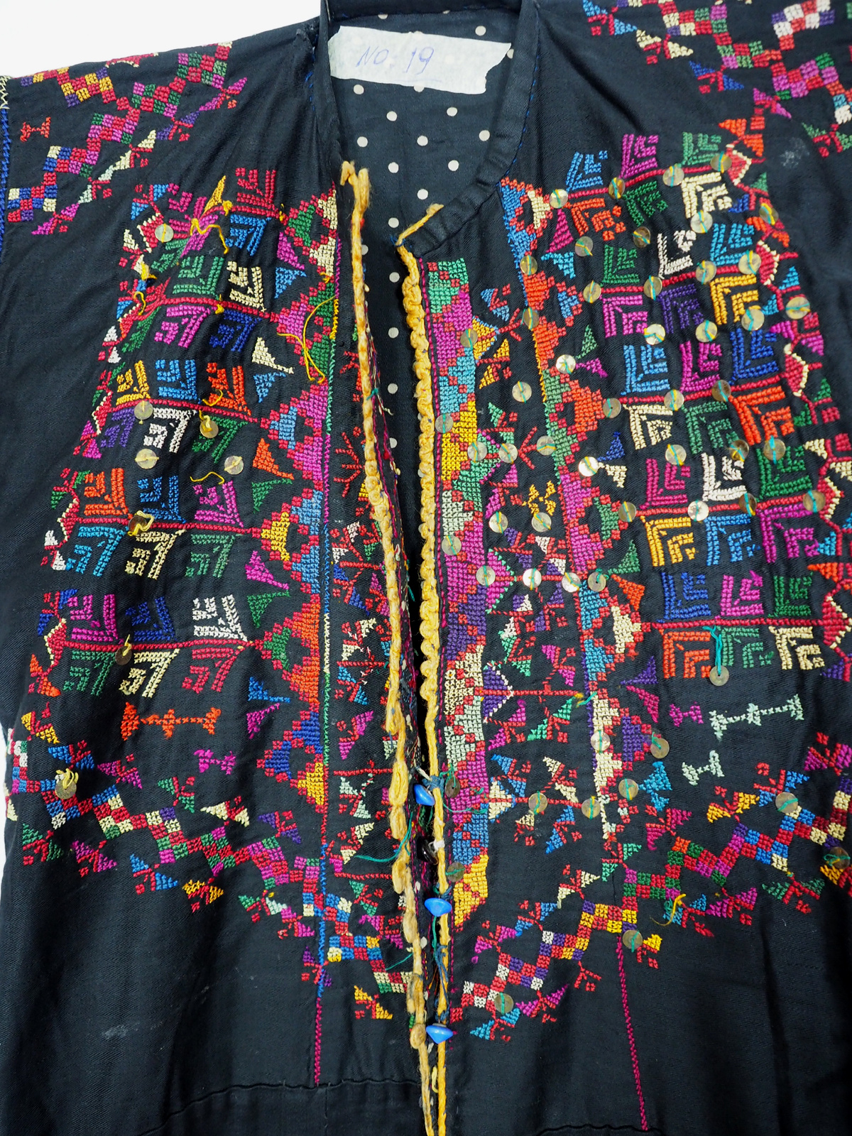 Palestinian girls embroidered ethnic dress No:19