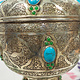 Extravagant oriental nickel silver box jewelry box casket from Afghanistan 20/1