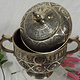 Extravagant oriental nickel silver box jewelry box casket from Afghanistan G
