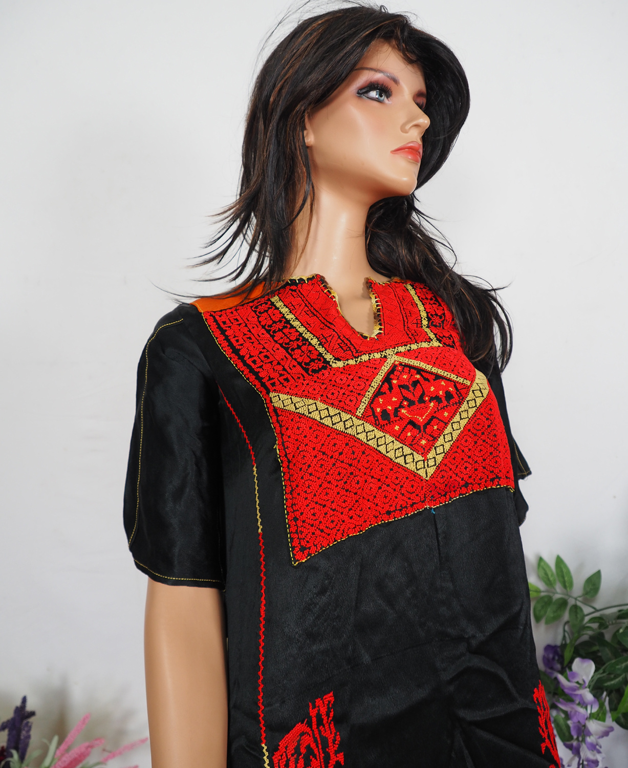 Palestinian girls embroidered ethnic dress No:12