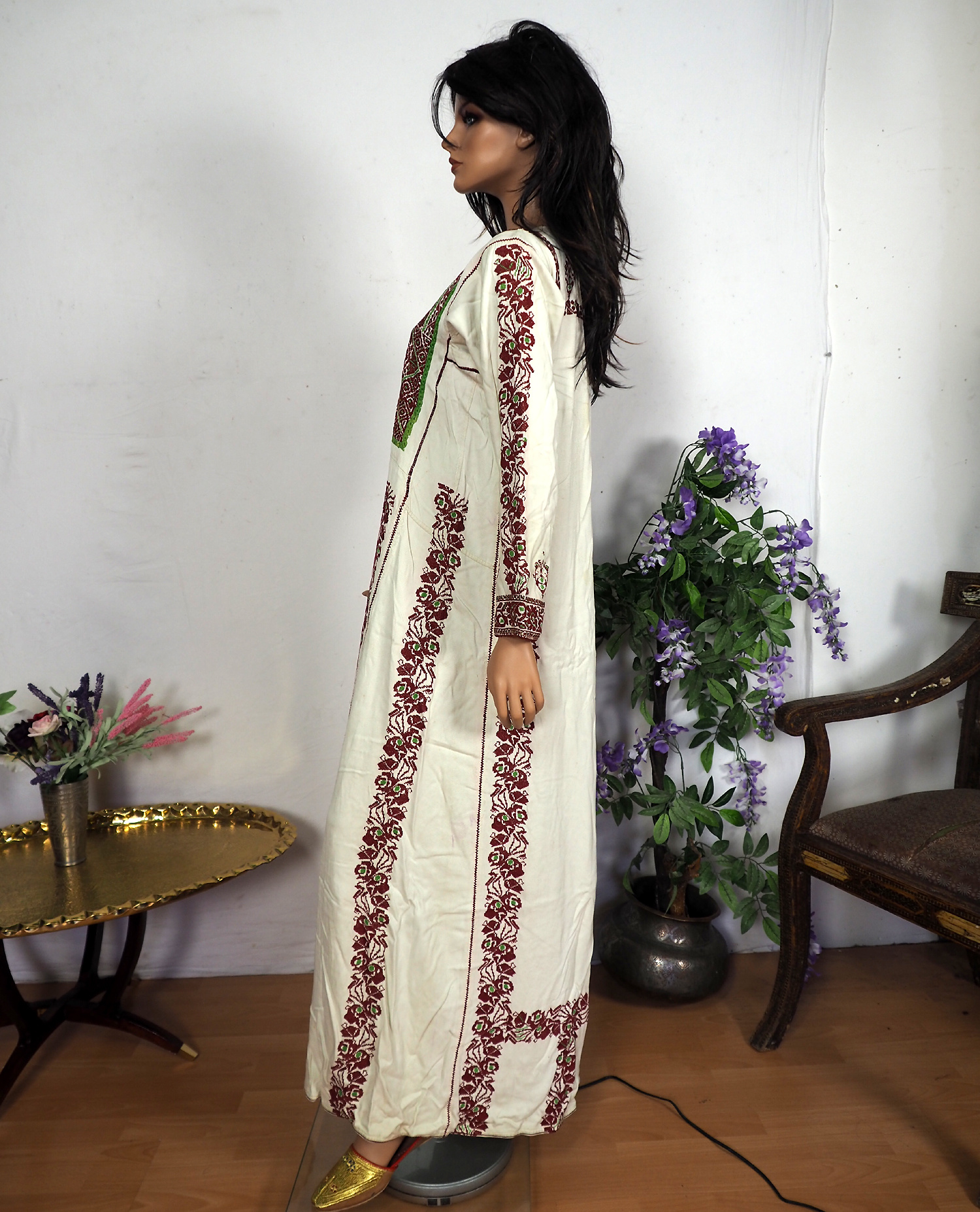 Palestinian girls embroidered ethnic dress No:13