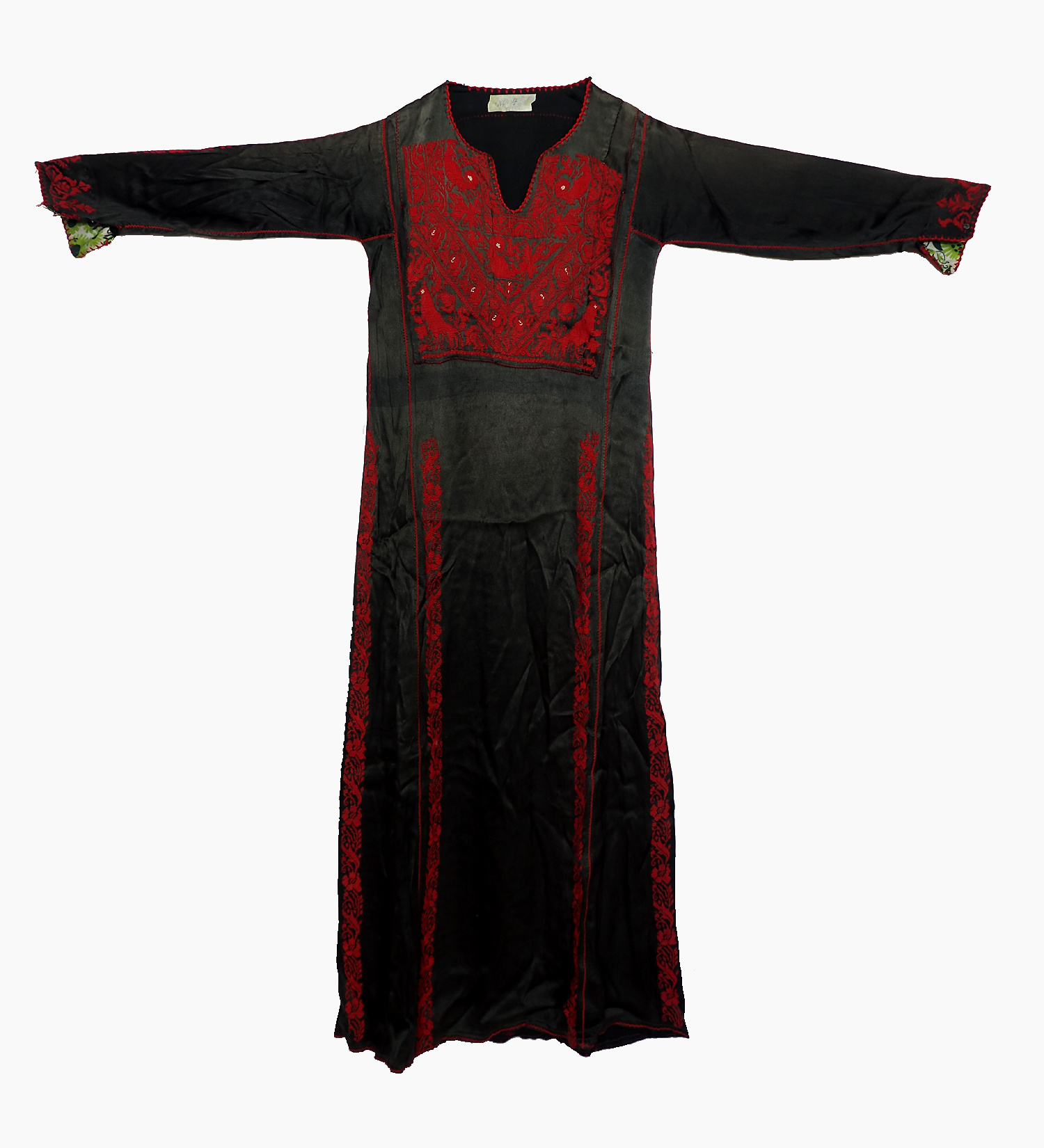 Palestinian girls embroidered ethnic dress No:4