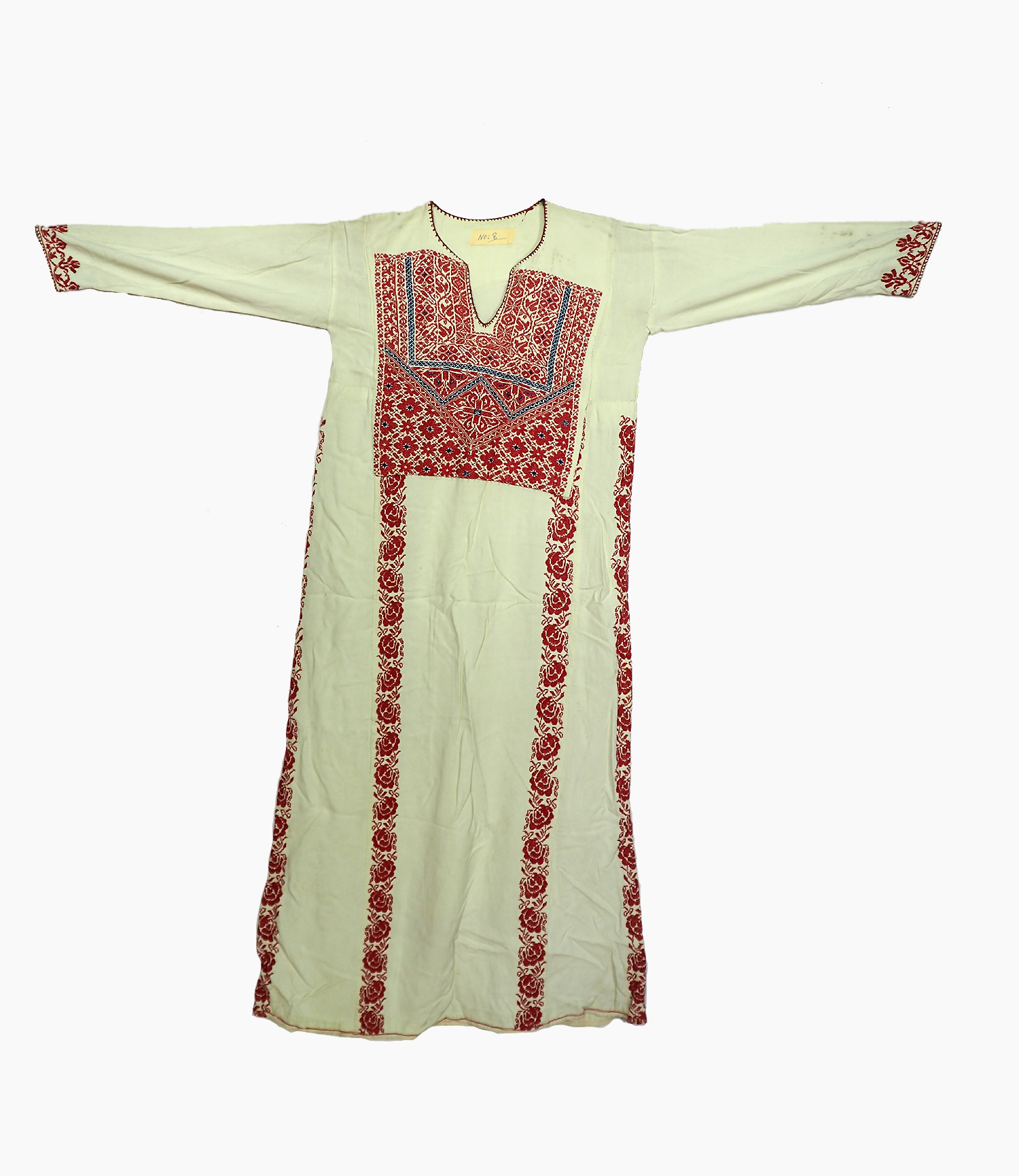 Palestinian girls embroidered ethnic dress No:8