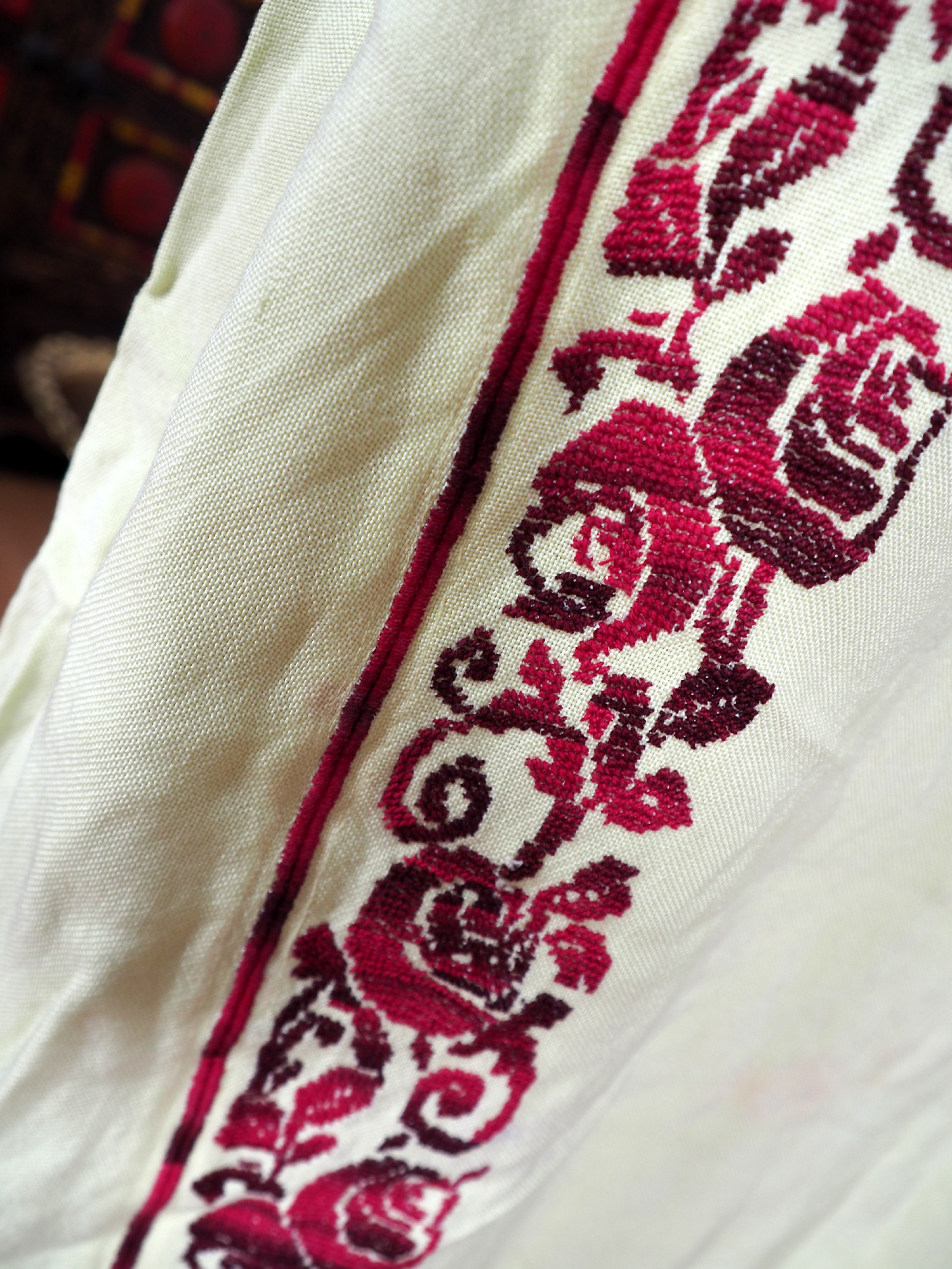 Palestinian girls embroidered ethnic dress No:14
