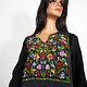 Palestinian girls embroidered ethnic dress No:1