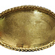 ottoman orient Islamic ottoman Hammer Engraved Brass table Tray Syria Morocco, Egypt with arabic script calligraphy Oval S