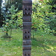 antique orient solid hand-carved wooden Pillar column from Nuristan Afghanistan Nr-G