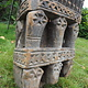 antique orient solid hand-carved wooden Pillar column from Nuristan Afghanistan antike Säule Nuristan Nr-B