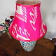 hand made  Unusual Origina Ikat lamp shade from uzbek Ikat No.A