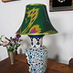 extravagant orient Uzbek Ikat stoff Schirm Lampenschirm Leuchtenschirm lampshade Nr:B